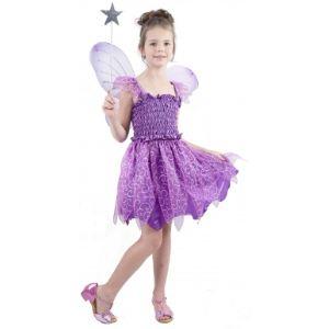 Déguisement fée violette pour fille (4 à 12 ans)