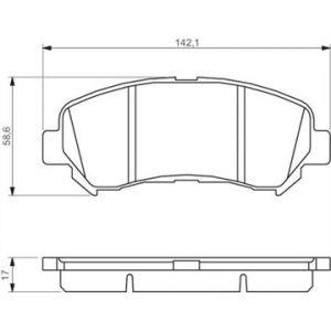 Bosch BP1116 - 4 Plaquettes de frein Avant
