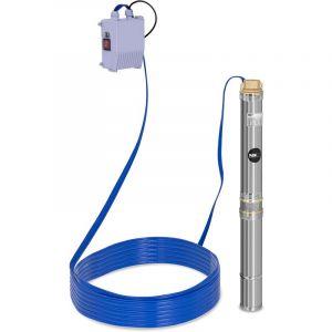 MSW Pompe immergée Pompe de puits submersible Pompe de forage 3800 L-H 250W Inox Profondeur de pompage max 28 m -SPP32-025