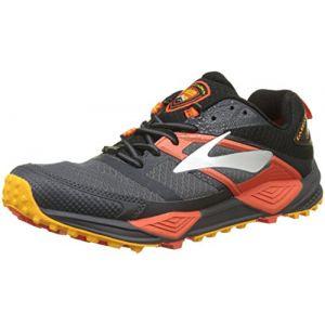 Brooks Cascadia 12 GTX, Chaussures de Trail Homme, Multicolore (Black/Ebony/Cherrytomato 1d047), 45 EU