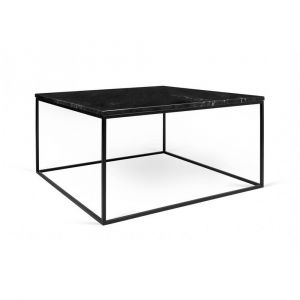 9821a597c1a5d3 Inside75 Table basse rectangulaire GLEAM 50 plateau en marbre noir  structure noire