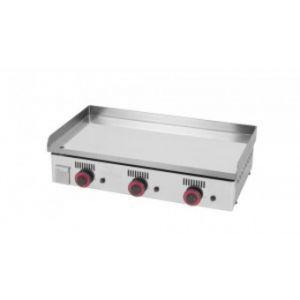 Mainho MAICR80 - Plancha pro plaque chrome dur 15 mm 3 brûleurs