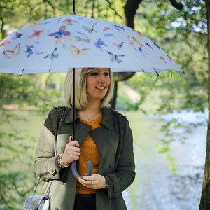 Esprit Parapluie long femme automatique - Imprimé papillons