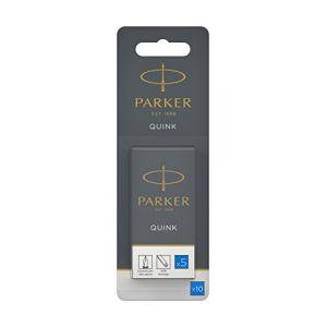 Parker 10 cartouches longues - encre bleue