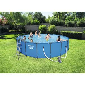 Bestway Kit Piscine Ronde Steel Pro Max Pools Bleue 549cm x 122cm