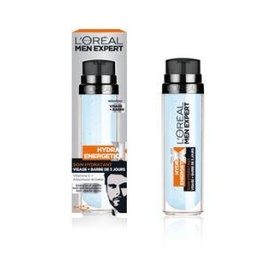 Image de L'Oréal Men Hydra Energetic X - Soin Hydratant Visage + Barbe de 3 jours