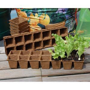 Intermas Gardening 56 godets de culture biodégradables 5 x 5 cm