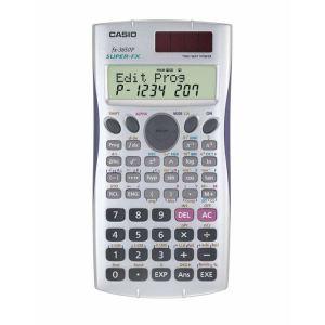 Casio FX-3650P - Calculatrice programmable (10+2 caractères, écran 2 lignes, alimentation piles/solaire)