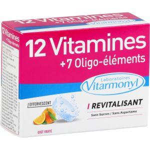 Laboratoires Vitarmonyl 12 vitamines + 7 Oligo-éléments revitalisant