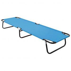 VidaXL Chaise longue pliable Acier Bleu turquoise