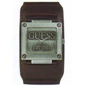 Guess W90025G - Montre pour homme avec bracelet en cuir