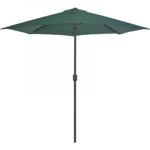 VidaXL Parasol d'extérieur avec mât en aluminium 270 x 135 cm Vert