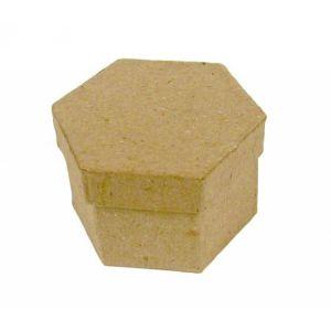 decopatch BT503O - Mini boîte hexagonale 3cm, en papier mâché