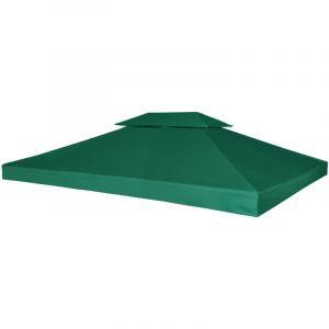 VidaXL Toile de rechange vert 270 g/m² pour pergola Gazebo