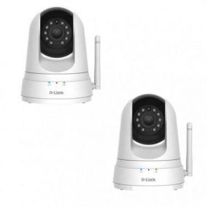 D-link 2 caméras Wi-Fi panoramique horizontal/vertical à vision diurne et nocturne