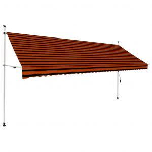 VidaXL Auvent manuel rétractable 400 cm Orange et marron
