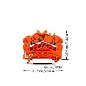 Wago 2002-6302 - Borne de passage pour 3 conducteur 100 pc(s)