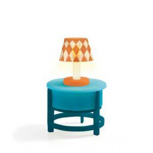 Djeco Lampe sur table ronde - Mobilier pour maison de poupées