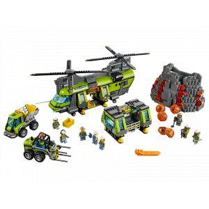 Lego 60125 - City : L'hélicoptère de transport du volcan