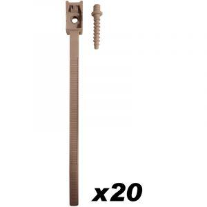 Zenitech 10 Colliers à embase D:16-32mm + chevilles