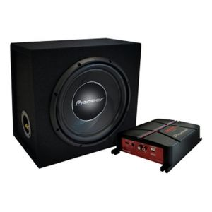Pioneer Pack Bass Ampli + Caisson + Kit Câblage Gxt-3730b