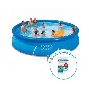 Intex Pack Piscine autoportante Easy Set 4,57 x 0,84 m + Traitement pour piscines < 10 m³