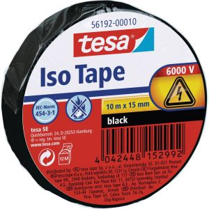 Tesa Ruban isolant 56192-10-02 noir (L x l) 10 m x 15 mm 1 rouleau(x)