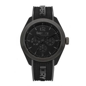 Superdry Montre SYG215EB - Montre Bicolore Noire Et Grise Homme