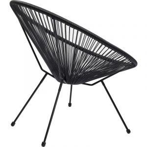 Kare Design Fauteuil Design Noir ACAPULCO