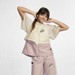 Nike Veste Sportswear Windrunner pour Fille plus âgée - Crème - Couleur Crème - Taille S