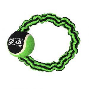 Codico Corde élastique ronde + balle de tennis h9.5*2.5*2.5cm - 1 coloris vert/noir