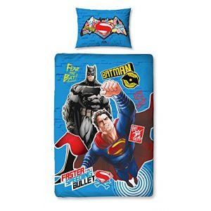 Parure de lit simple réversible Batman V Superman (140 x 200 cm)