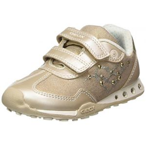 Geox Jr New Jocker D, Sneakers Basses Fille, Beige (Beige/Lt Gold), 32 EU