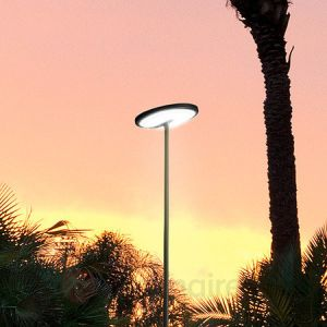 Led C4 Lampadaire design Invisible LED IP54 H210 cm - Noir