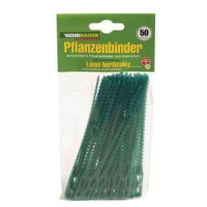 Windhager 06218 - Attache-plante, vert, 130 mm, lot de 50