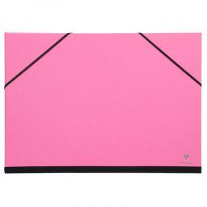 Clairefontaine 144706C - Un Carton à Dessin couleur fermeture élastiques 37x52 cm, Fuchsia