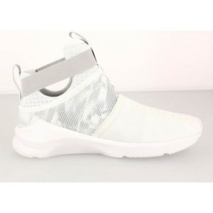 Puma FIERCE STRAP SWAN Chaussures Fitness Femme Gris Blanc
