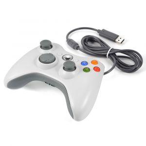 XC Source Manette de Jeu Filaire Joystick Blanche pour Xbox One 360 AC480