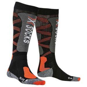 X-Socks Chaussettes Ski Light 4.0 Homme, Noir/Orange, FR Taille Fabricant : XL(45-47)