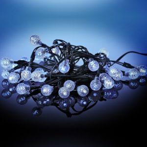 Guirlande solaire 35 LED boules givrées
