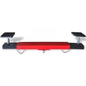 VidaXL Croix Adaptateur réglable de Traverse Faisceau 2 tonnes Rouge Pont élévateur