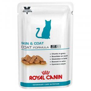 Royal Canin VCN Skin Coat pour chat - 100 g 12 sachets