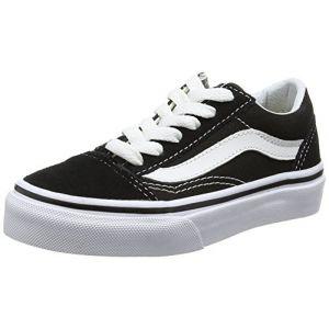 Vans Old Skool, Baskets Basses Mixte Enfant, Noir (Black/True White 6bt), 34 EU