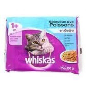 Whiskas Pâtée Pour Chat Filet De Peche En Gelée 4x100g