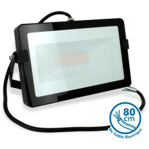 Eclairage design Projecteur LED 50W Noir Extérieur IP65   Blanc chaud 2700K