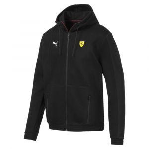 Puma Blouson de sweat à capuche Ferrari pour Homme, Noir, Taille L
