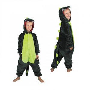 Party Pro Déguisement combinaison dino vert enfant 7-9 ans (128 cm)