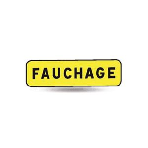 Taliaplast 525211 - Panonceau indication fauchage km t1 900x250mm