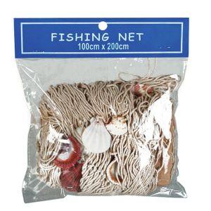 Filet de pêche avec coquillages
