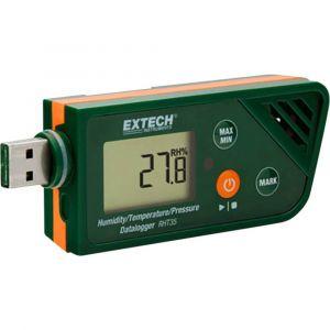 Extech Enregistreur de données multifonctions RHT35 Unité de mesure humidité de l'air, température, pression -30 à +70 °